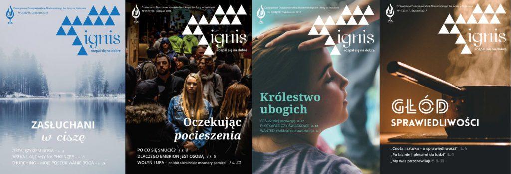 Okładki przykładowych czasopism